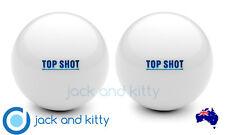 Brand New 6 Pack Top Shot White Standard Grass Jacks Lawn Bowls Jack