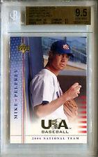 2004-05 Upper Deck USA Baseball MIKE PELFREY National Team RC Mint BGS 9.5 SP