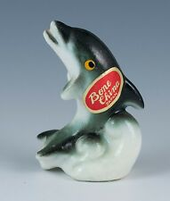 Vintage Miniature Bone China Dolphin Porpoise Figurine Gloss Finish Japan