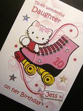 Personalised Hello Kitty/Rollerskate Card
