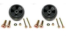 (2) New DECK WHEEL / ROLLER KITS John Deere AM116299 AM133602 Anti Scalp Mower