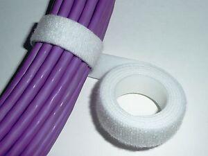 VELCRO STRAP CABLE TIE HOOK & LOOP 20mm x 25m WHITE *GENUINE VELCRO*