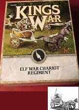 Kings of War MGKWE401 Elves Elf War Chariot Regiment (3) Miniatures Warmachines
