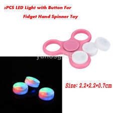3X LED Light with Button Replace Part For Fidget Finger Hand Spinner Accessories