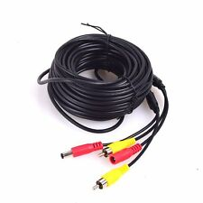 10m RCA Video Audio AV DC Power Extension Cable Wire Lead fr Car Rearview Camera