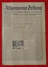 ALLGEMEINE ZEITUNG 16.9.1945: Das Prinzip der Nürnberger Prozesse
