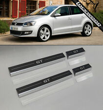 VW Polo Mk5 (libéré environ. 2009) 4 porte Sill Protections/coup De Pied Plaques