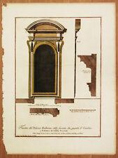 FINESTRA PALAZZO BARBERINI BORROMINI Incisione Originale A. Specchi 1699 Roma