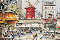 300/500 Pieces Kids Adult Jigsaw Puzzle Bustling Street Big windmill Puzzle Toys