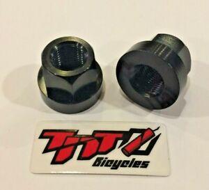 "TNT BICYCLES - ALUMINUM AXLE NUTS - 3/8"" x 26tpi  - SOLD AS PAIR (2pcs)"
