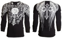 Xtreme Couture AFFLICTION Mens THERMAL T-Shirt DAGGER Tattoo Biker UFC M-3XL $58