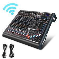 Vangoa TF10 Professional Audio Mixer 10 Channel Bluetooth Mixing Console USB