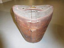 Antique The Bag & Portmanteau Co. Mens Leather Top Hat Storage/Travel Case 14x14