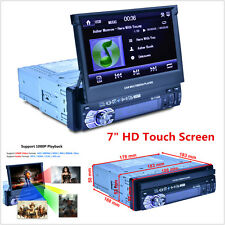 "7"" HD Touch Screen 1 DIN Car Bluetooth MP3 MP5 Player Rearview Monitor FM Radio"
