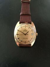 VINTAGE OMEGA SEAMASTER AUTOMATIC DATE 14K SOLID YELLOW GOLD WATCH