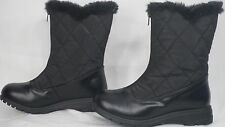 Soft Style 'Icey' Black Quilted Nylon Mid-Calf Winter Boot Women Size 6 M