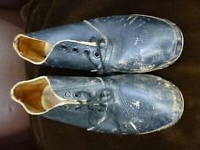 Old Leather and wooden clogs clog dancing re-enactment mill Peterloo sz Uk 4