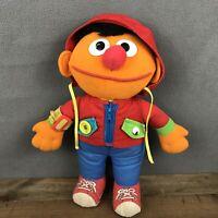 """Playskool Vintage 1990 Sesame Street Dress Me Up Hoodie 13"""" Plush Stuffed Doll"""
