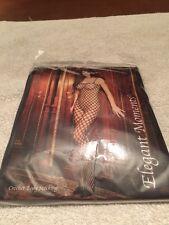 elegant moments 1614 Q seamless Lycra crochtet bodystocking black: plus size