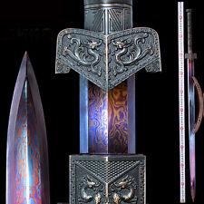 BoutiqueChinese Wushu Sword BlueFolded HRC60 Manganese Steel JianFull Tang