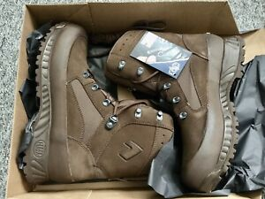 HAIX NEW UK MILITARY COMBAT DESERT BOOTS IN BROWN UK SIZE 11 W NEW IN BOX