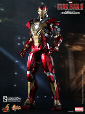 "Hot Toys Iron Man 3 MARK XVII 17 HEARTBREAKER 12"" Figure 1/6 Scale MMS212"