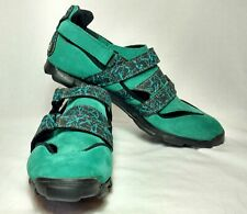 Adidas Mens Green Suede Mountain Biking Cycling Shoes SPD Clipless Size US 8.5