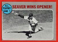 1970 Topps #195 Tom Seaver EX+ New York Miracle Mets Cincinnati Reds FREE SHIP