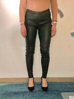 luxe legging cuir agneau kaki stretch J. SEBASTIEN VASSAL taille W28  #550€
