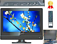 12 Inch TV Flat Screen Small Flatscreen Remote Kitchen HDMI ACDC Compatible Best