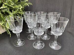 Vintage Arcoroc Wine Glasses, Lancer Pattern, Set Of 8