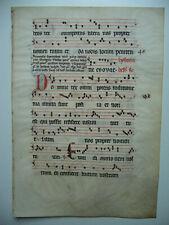 Antiphonar, (Responsorium), Handschrirft auf Pergament ca. 15. Hhdt. ca.42x40 cm