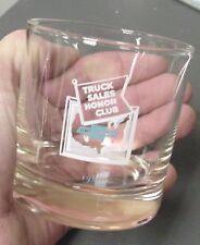 1968 Vintage Original Chevrolet Dealers Truck Sales Honor Club Award Glass, NOS!