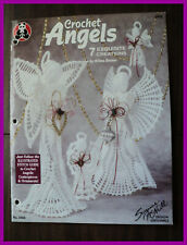 """Crochet Angels Pattern Booklet 7 Patterns 17/"""" to 5 3//4/"""" Complete Instructions"""