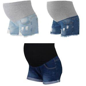 Pregnant Women Distressed Jeans Maternity Summer Casualwear Pants Denim Shorts