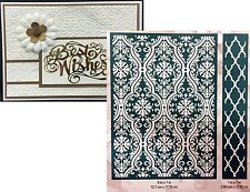 Anna Griffin Fluted Damask embossing folder set Cuttlebug embossing folders 5x7