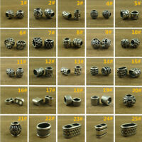 2pcs 316L Stainless Steel Lanyard Beads Paracord Bead Knife Beads for Craft use