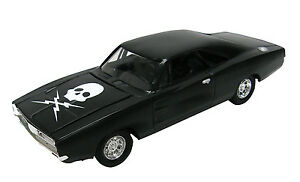 1:24 -DEATH PROOF MOVIE- Black 1969 Dodge Charger *8in DIECAST*