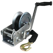 Zinc Plated 2,000 lbs Maximum Load 2 Speed Boat Trailer Winch - 25 Ft Strap
