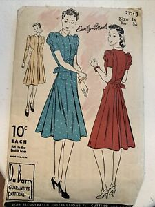 Du Barry 5610: Perfect Pattern Easy Made Vintage Sewing Pattern