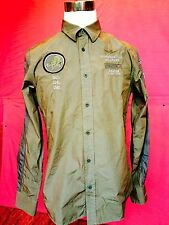 Camicia Da Uomo Dell'Aeronautica Militare originale new 201 colore Marrone