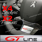 Stickers GT line volant X4 autocollants pour Peugeot Insert 208 308 508 VinylPro