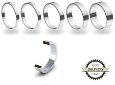 New 9ct 375 White Gold 2-6mm Flat Wedding Ring Band Solid & UK Hallmarked