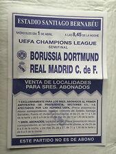 FANZINE REAL MADRID SPAIN BORUSSIA DORTMUND GERMANY CHAMPIONS LEAGUE 1997 1998