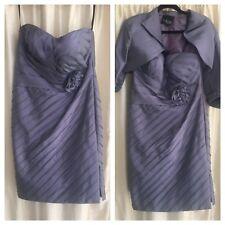 Mascara Mother Of Bride Purple Dress Suit Weddings/Races/Occasions Size 14 UK