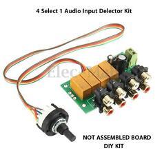Audio Switching Board 4 Select 1 Audio Input signal Selector Relay Board DIY Kit