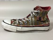 Converse All Star Womens 6 Med Sneakers Green Red Orange High Top Shoes Athletic