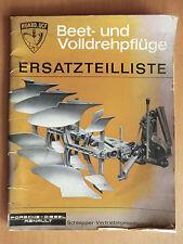 Ersatzteilliste Porsche-Diesel Renault Beet- und Volldrehpflüge HUARD.UCF 1964