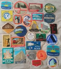 Luggage Label Hotel nice lot of 33 different Labels