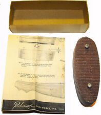 Vintage Early Original Pachmayr Recoil Pad- Red/Brown - w Instructions & Box Bot